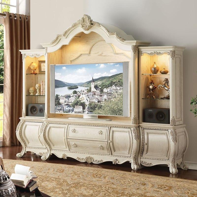 Ragenardus Living Room Set (Antique White) Acme Furniture