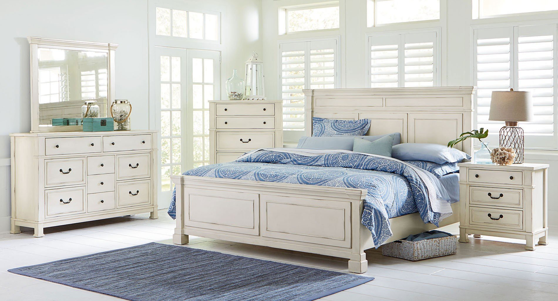 chesapeake bay panel bedroom set standard furniture furniture cart