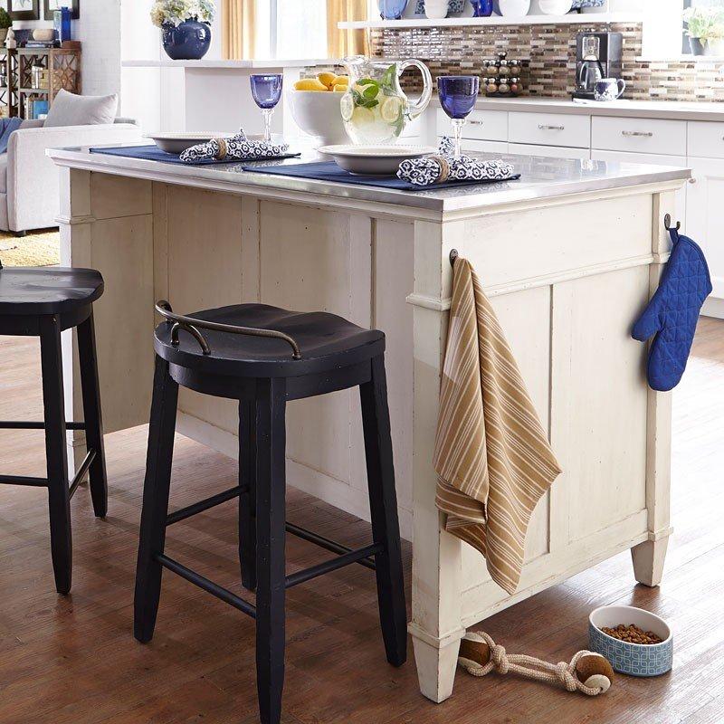 Trisha Yearwood Home Kitchen Island Cream Klaussner 1 Reviews Furniture Cart
