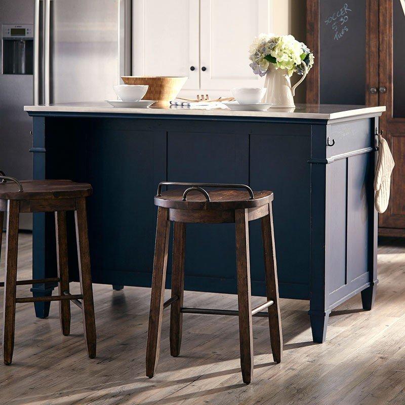 Trisha Yearwood Home Kitchen Island Troyal Blue