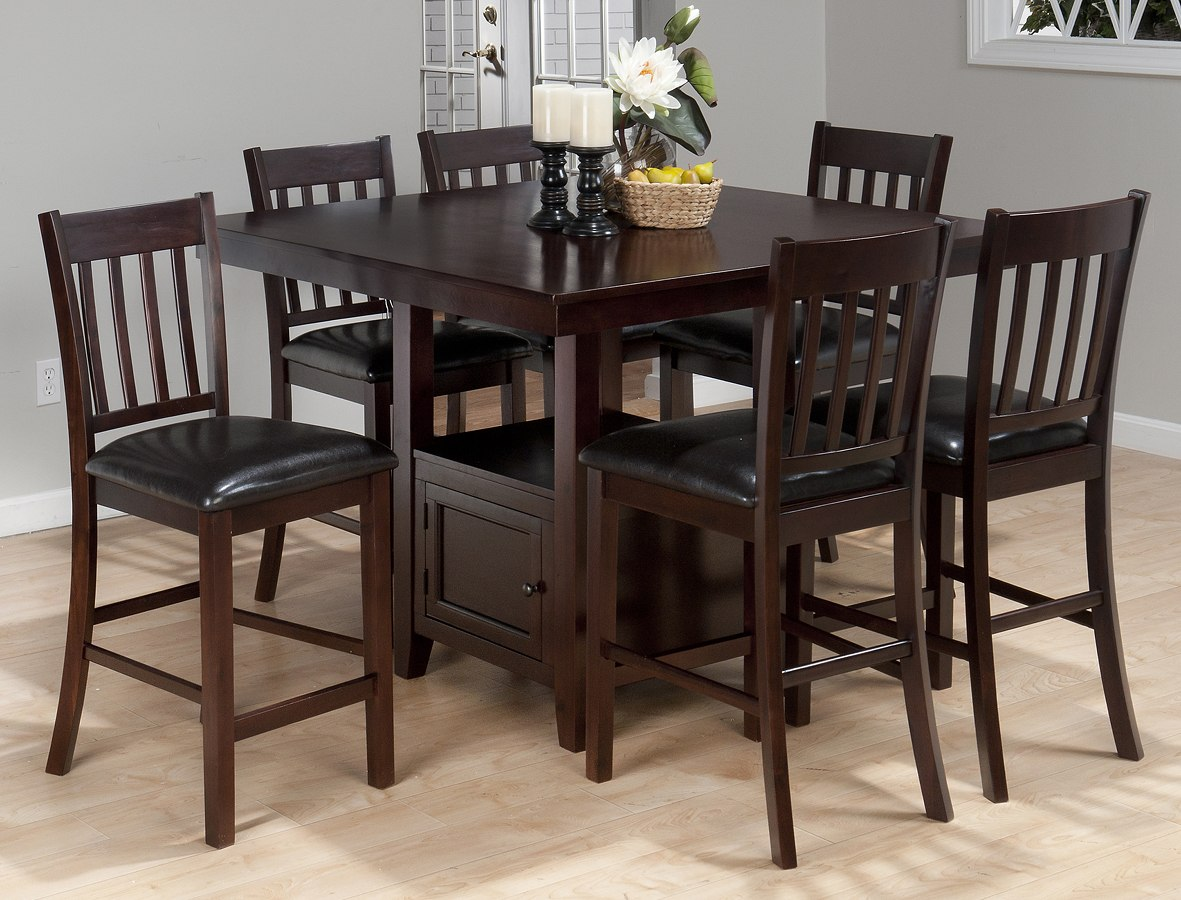 dining room counter height tables | Tessa Chianti Counter Height Dining Room Set Jofran ...