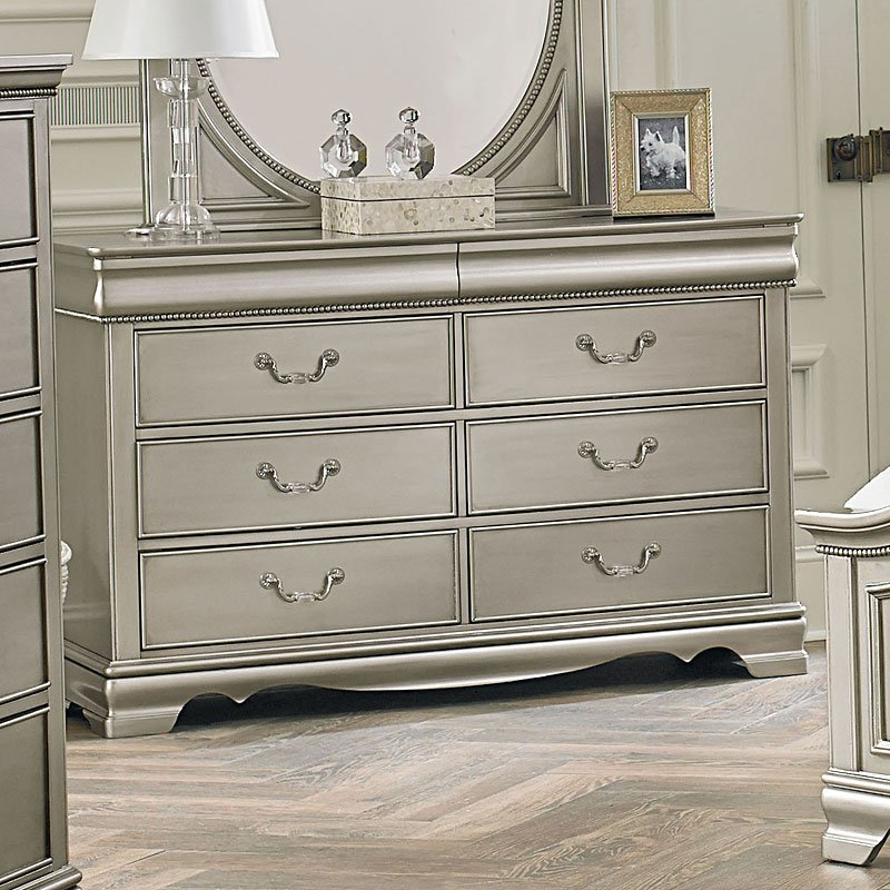 jessica silver youth bedroom set standard furniture, 1