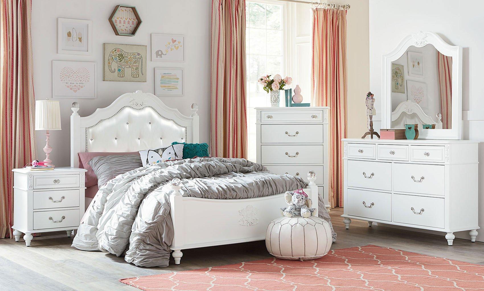 olivia youth poster bedroom set standard furniture furniture cart. Black Bedroom Furniture Sets. Home Design Ideas