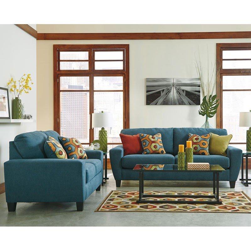 Sagen Teal Living Room Set Signature Design