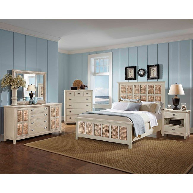 Pacifica Creme Panel Bedroom Set