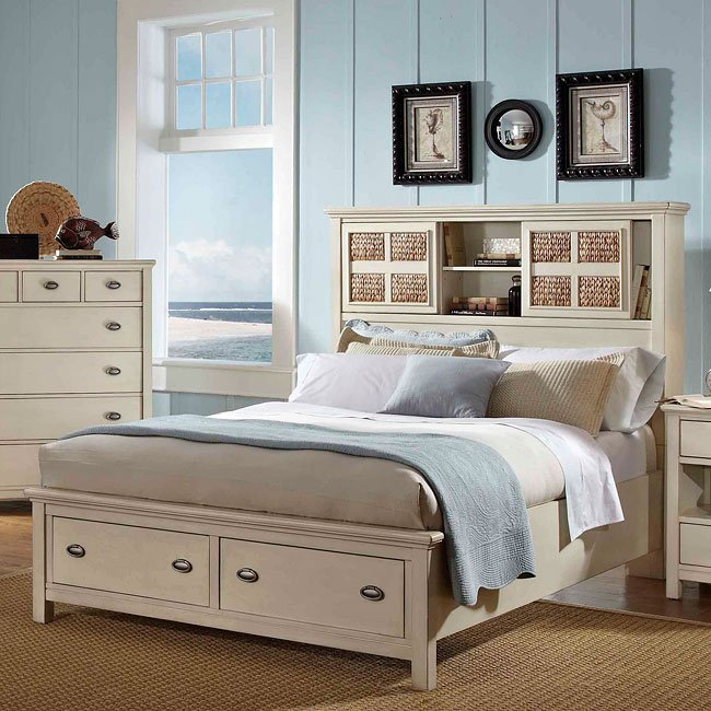 Pacifica Creme Storage Bed