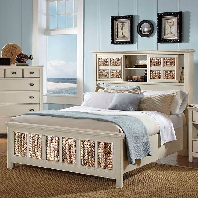 Pacifica Creme Bookcase Bed