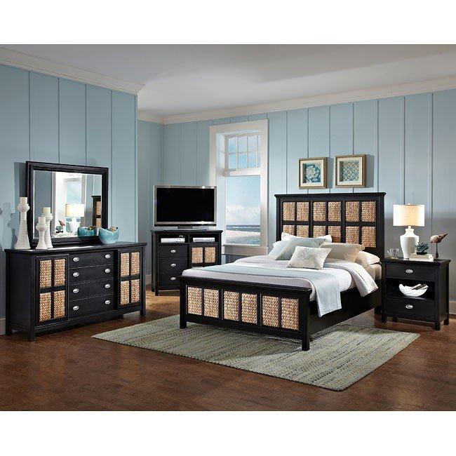Pacifica Ebony Panel Bedroom Set