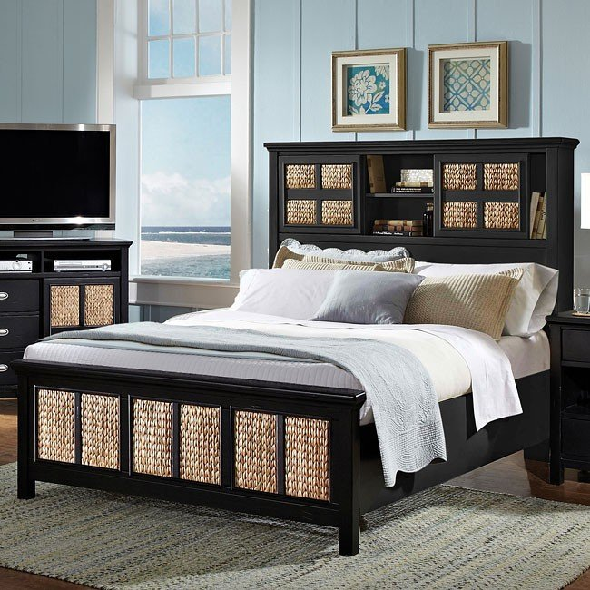 Pacifica Ebony Bookcase Bed