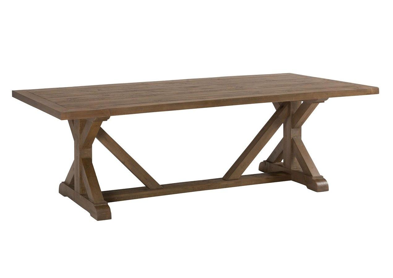 Slater Mill Trestle Dining Table Jofran Furniture
