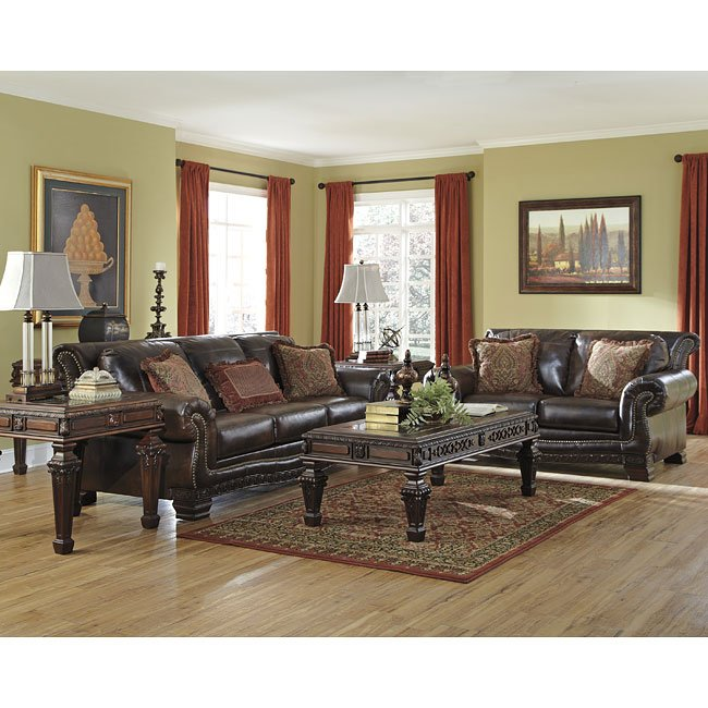 Ledelle DuraBlend Antique Living Room Set Signature Design, 1 ...