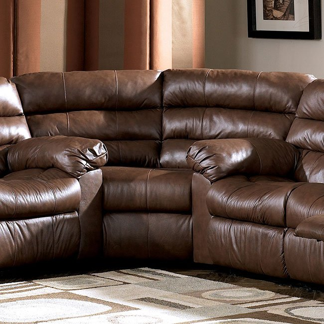Furniture Best Ashley Furniture Memphis For Home: Memphis - Brown Reclining Sectional Millennium