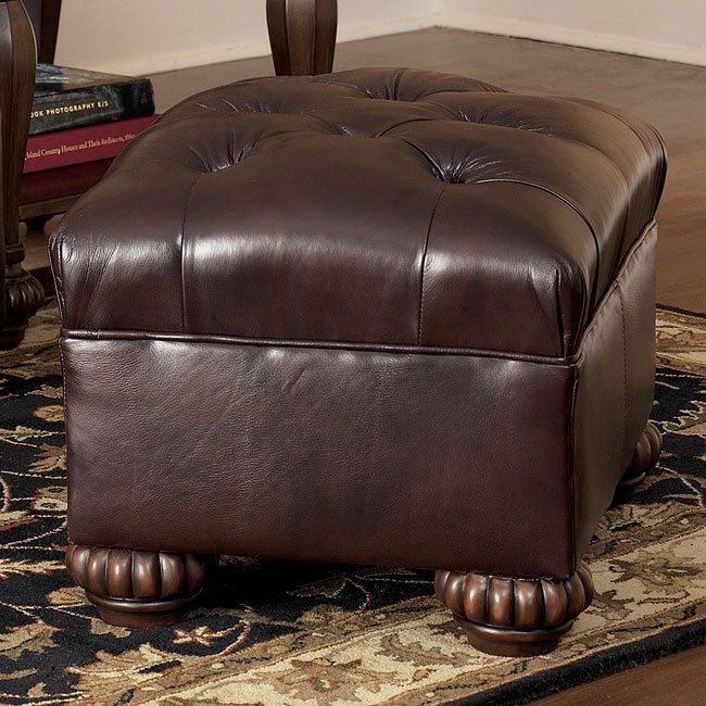 Brentwood - Mahogany Accent Ottoman