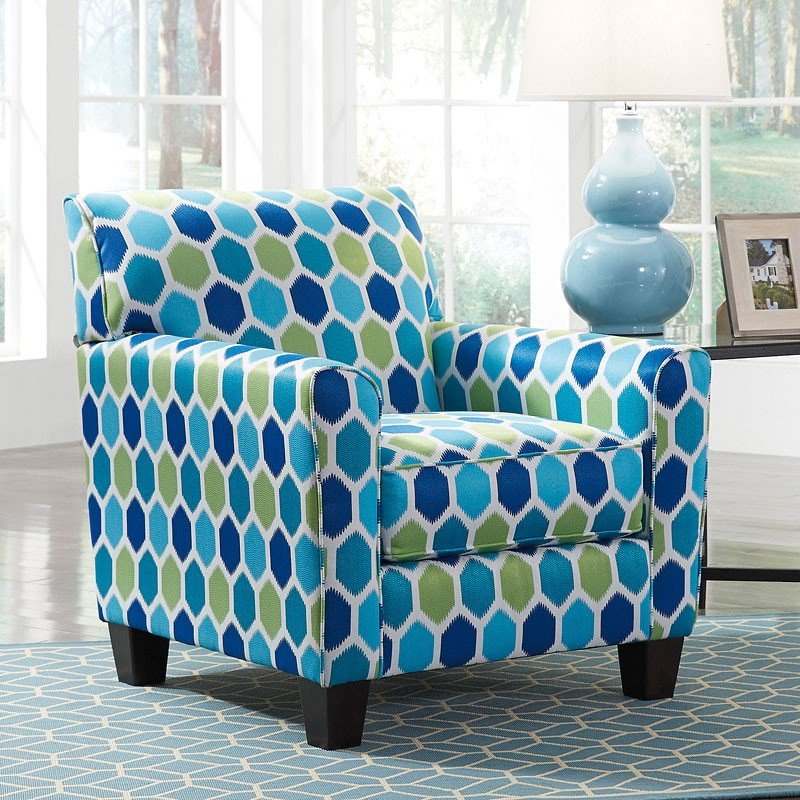 & Ayanna Nuvella Turquoise Accent Chair BenchCraft | Furniture Cart