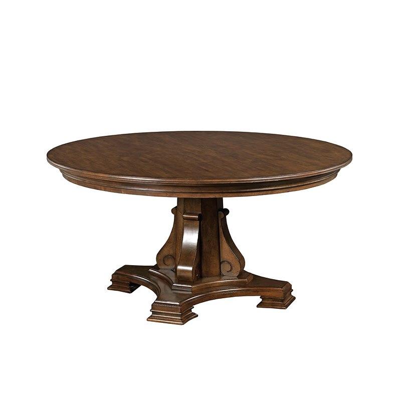 portolone stellia 60 inch round dining table kincaid furniture furniture cart. Black Bedroom Furniture Sets. Home Design Ideas