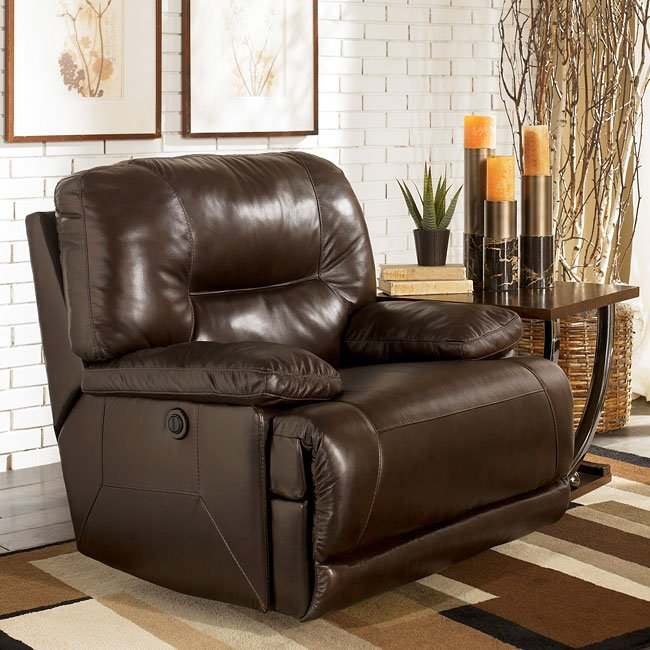 Leather Sofa Repairs Bromley: Brown Power Reclining Living Room Set Signature