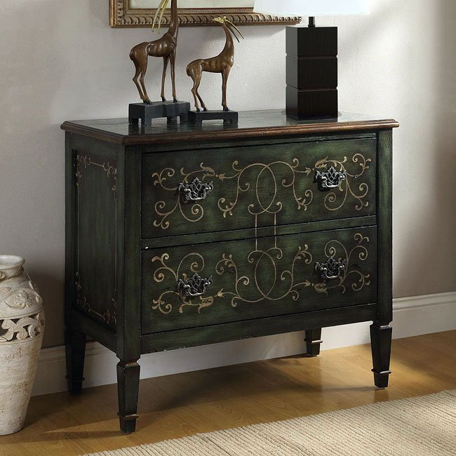 Green Accent Chair Wood Antique Diy: Antique Green Accent Cabinet Coaster Furniture