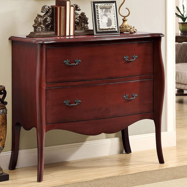 Antique Red Accent Cabinet