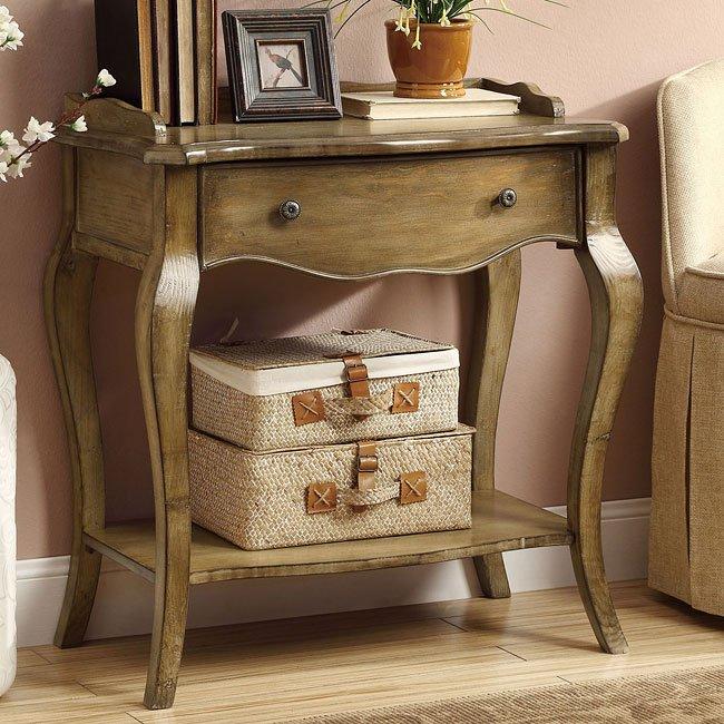 Antique Pine Accent Cabinet