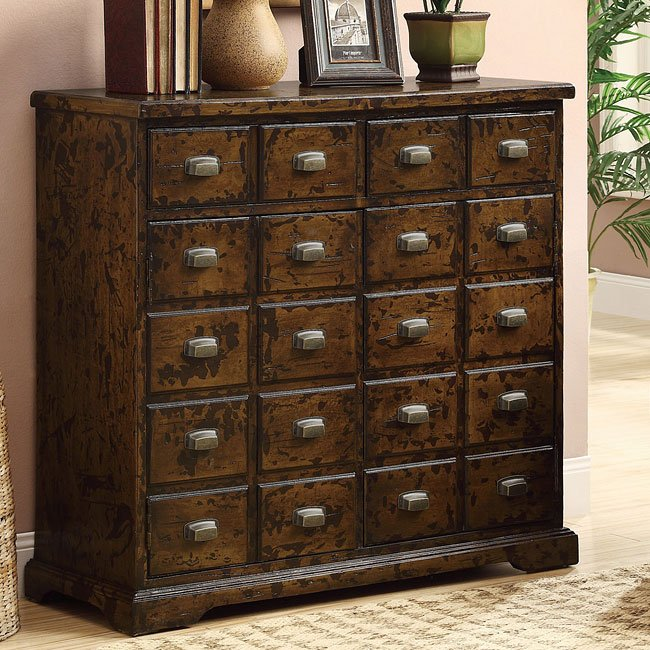 Apothecary Cherry Accent Cabinet