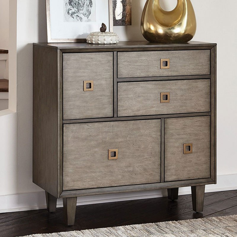 Weathered Grey Accent Cabinet