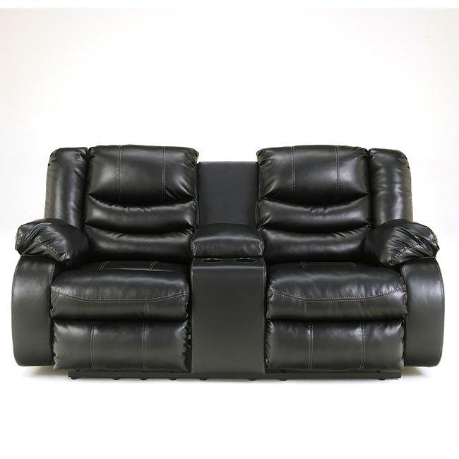 Fine Linebacker Durablend Black Reclining Loveseat Alphanode Cool Chair Designs And Ideas Alphanodeonline