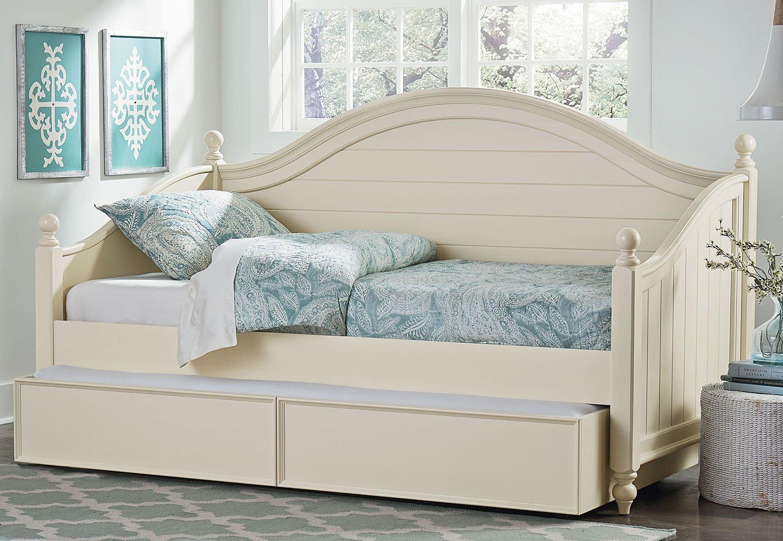 camellia daybed bedroom set marshmallow white standard furniture furniture cart
