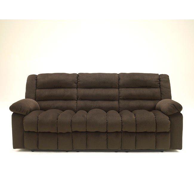 Ekron Chocolate Reclining Sofa