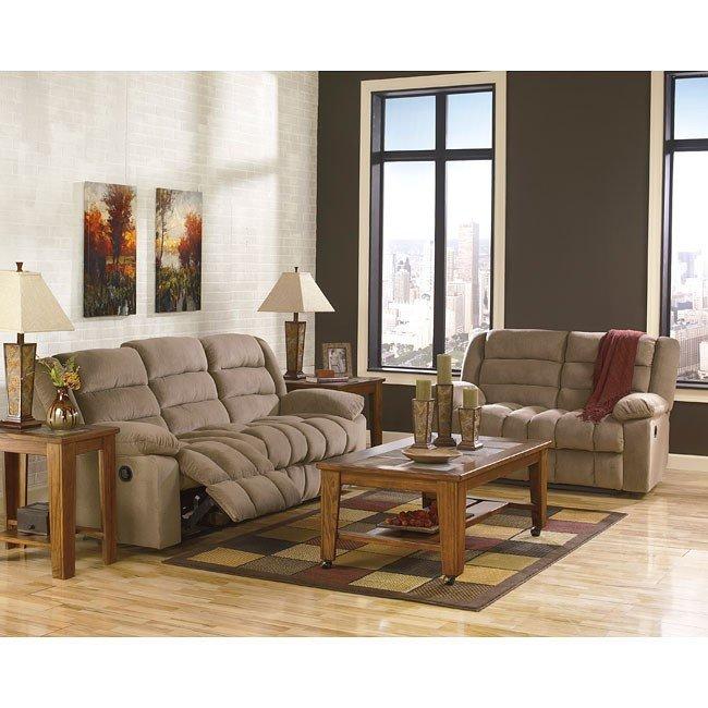 Ekron Cocoa Reclining Living Room Set