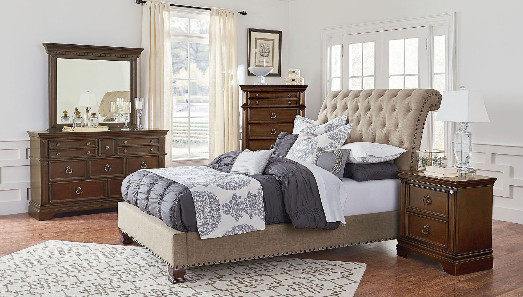 Inspiring Upholstered Bedroom Set Plans Free