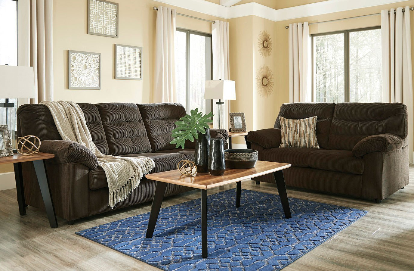 Gosnell Chocolate Living Room Set