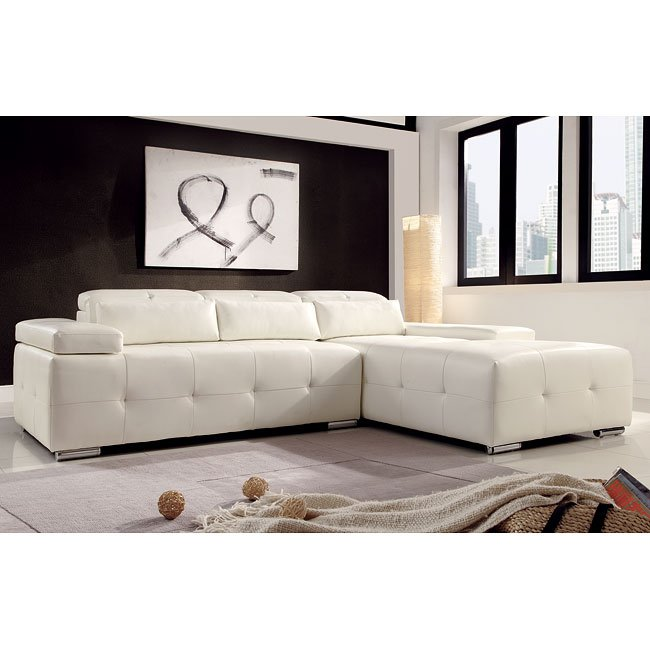 Amare White Sectional