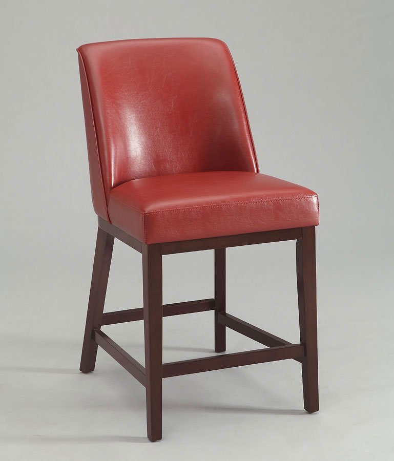 Valor Counter Height Chair (Red) (Set Of 2) Acme Furniture ...
