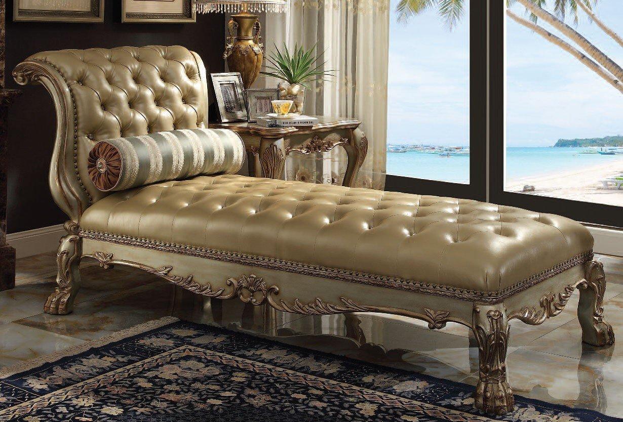 Dresden Chaise Gold Patina Acme Furniture Furniture Cart