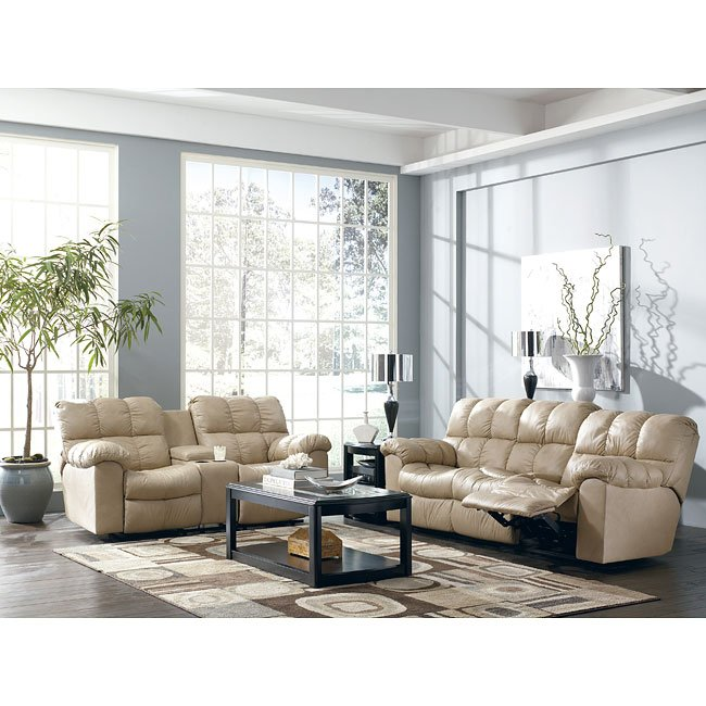 Max - Chamois Reclining Living Room Set