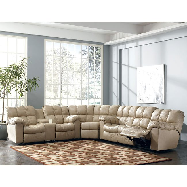 Max - Chamois Reclining Sectional