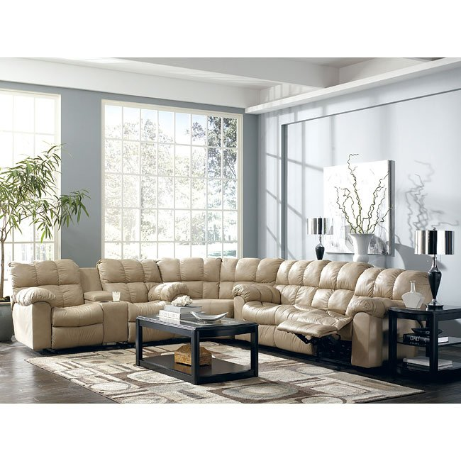 Max - Chamois Reclining Sectional Living Room Set