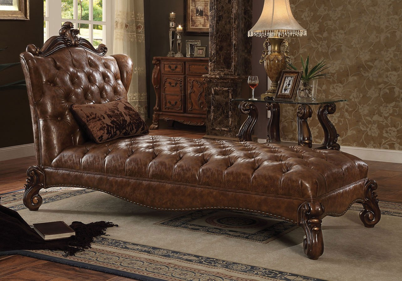 Versailles Living Room Set Light Brown Pu Acme Furniture