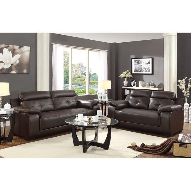 Zane Living Room Set (Brown)