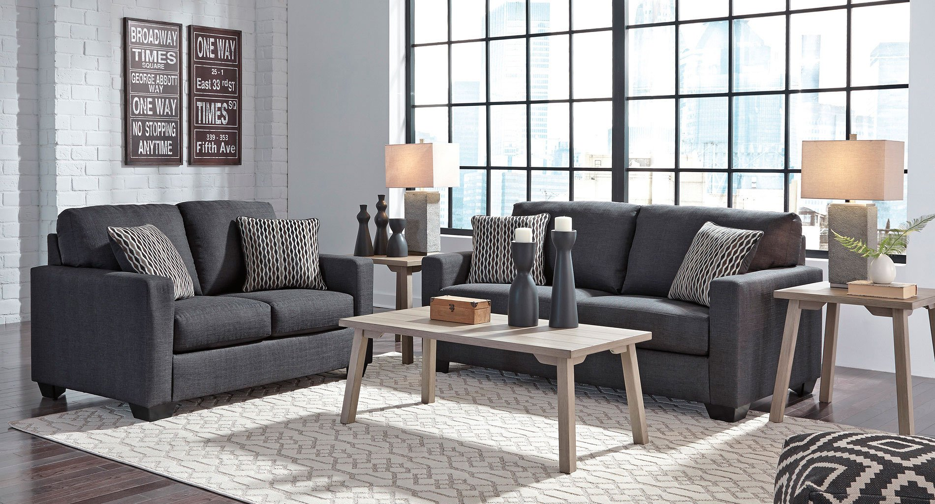 Bavello Indigo Living Room Set Benchcraft Furniture Cart