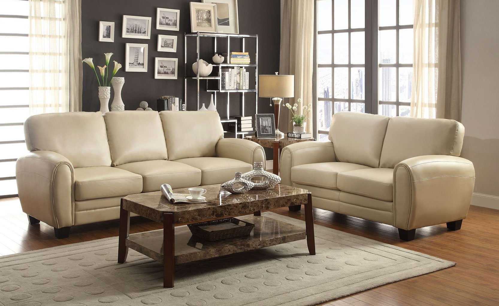 Attirant Rubin Living Room Set (Taupe)
