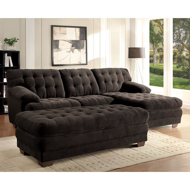 Brooks Sectional Living Room Set (Chocolate)