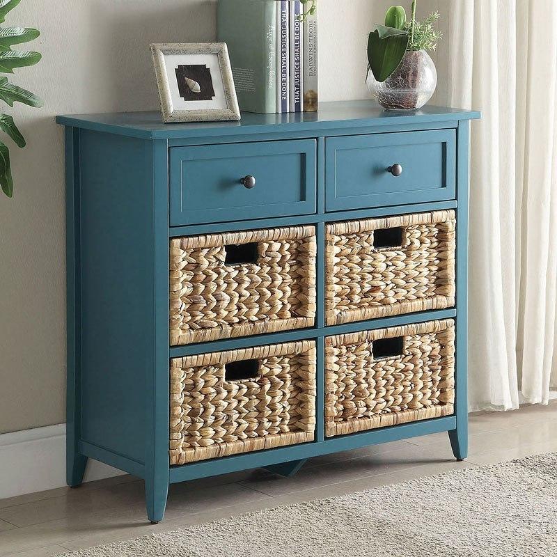 Teal Sofa Table: Flavius Console Table (Teal) Acme Furniture