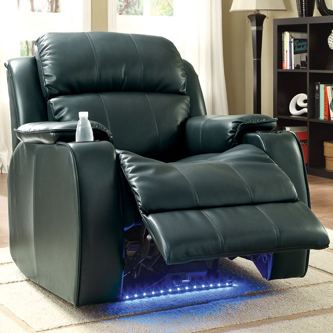 Jimmy Power Reclining Chair W/ Massage (Black)