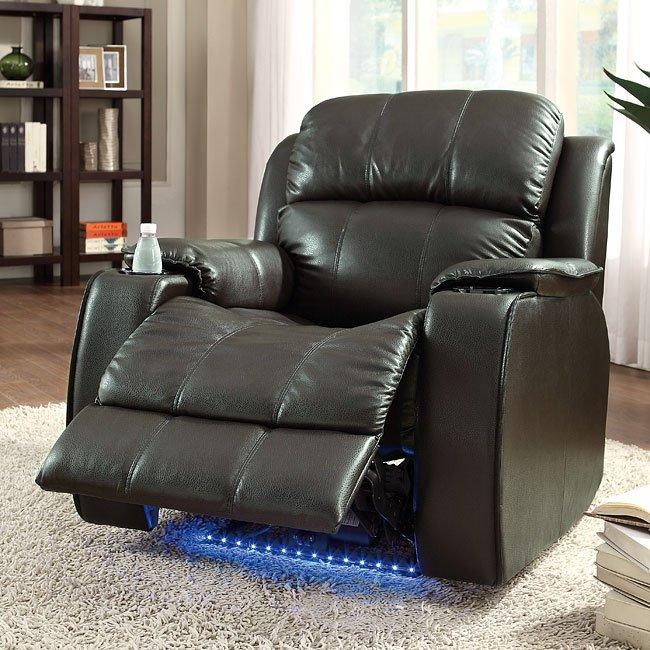 Jimmy Power Reclining Chair w/ Massage (Brown)