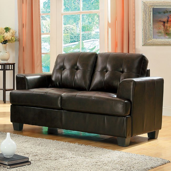 Keaton Loveseat (Brown)