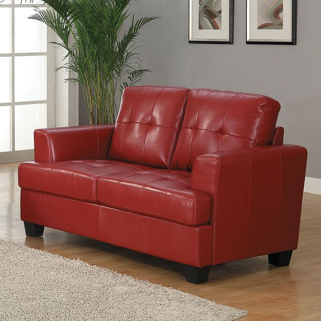 Keaton Loveseat (Red)