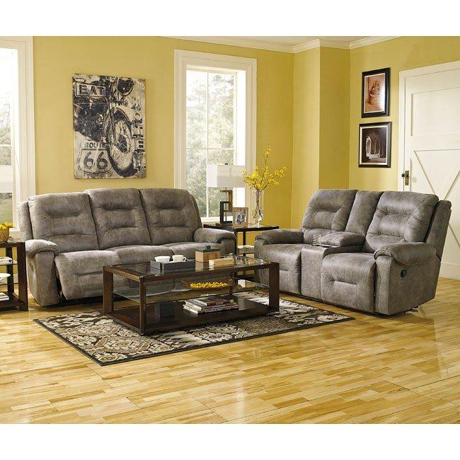 Rotation Smoke Reclining Living Room Set Signature Design