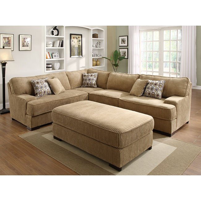 Minnis Sectional Living Room Set (Brown)
