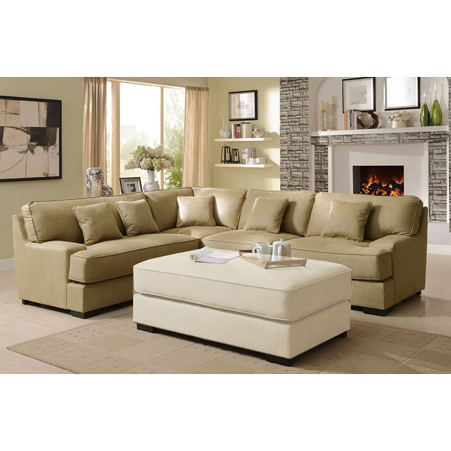 Minnis Sectional (Beige)